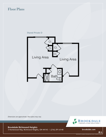 Floorplan of Richmond Heights Place, Assisted Living, Nursing Home, Independent Living, CCRC, Richmond Heights, OH 4