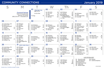 Activity Calendar of Brookdale Foxwood Springs, Assisted Living, Nursing Home, Independent Living, CCRC, Raymore, MO 3