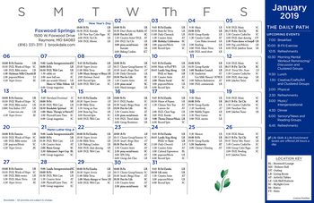 Activity Calendar of Brookdale Foxwood Springs, Assisted Living, Nursing Home, Independent Living, CCRC, Raymore, MO 7