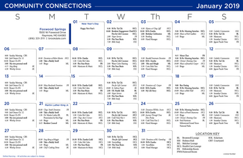 Activity Calendar of Brookdale Foxwood Springs, Assisted Living, Nursing Home, Independent Living, CCRC, Raymore, MO 15