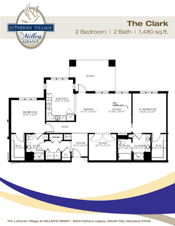 Floorplan of Miller's Grant, Assisted Living, Nursing Home, Independent Living, CCRC, Ellicott City, MD 1