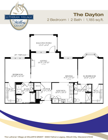 Floorplan of Miller's Grant, Assisted Living, Nursing Home, Independent Living, CCRC, Ellicott City, MD 3