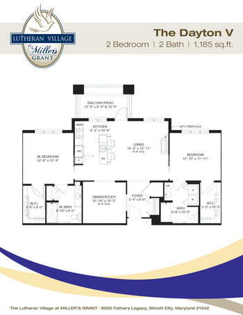 Floorplan of Miller's Grant, Assisted Living, Nursing Home, Independent Living, CCRC, Ellicott City, MD 4
