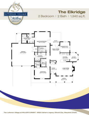 Floorplan of Miller's Grant, Assisted Living, Nursing Home, Independent Living, CCRC, Ellicott City, MD 5