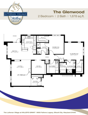 Floorplan of Miller's Grant, Assisted Living, Nursing Home, Independent Living, CCRC, Ellicott City, MD 7