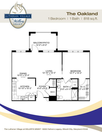 Floorplan of Miller's Grant, Assisted Living, Nursing Home, Independent Living, CCRC, Ellicott City, MD 8