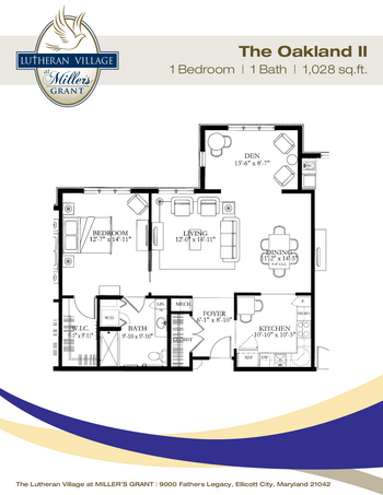 Floorplan of Miller's Grant, Assisted Living, Nursing Home, Independent Living, CCRC, Ellicott City, MD 9
