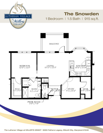 Floorplan of Miller's Grant, Assisted Living, Nursing Home, Independent Living, CCRC, Ellicott City, MD 10