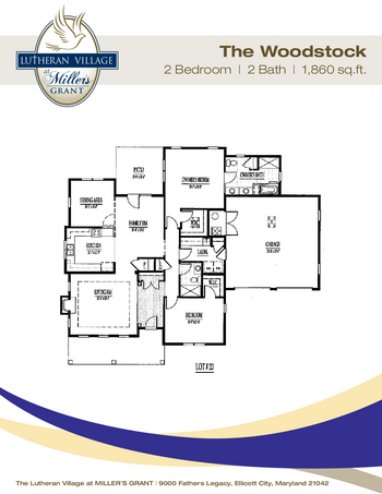 Floorplan of Miller's Grant, Assisted Living, Nursing Home, Independent Living, CCRC, Ellicott City, MD 11