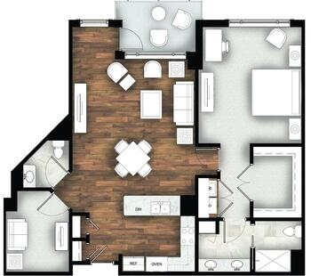 Floorplan of Legacy at Mills River, Assisted Living, Nursing Home, Independent Living, CCRC, Mills River, NC 1