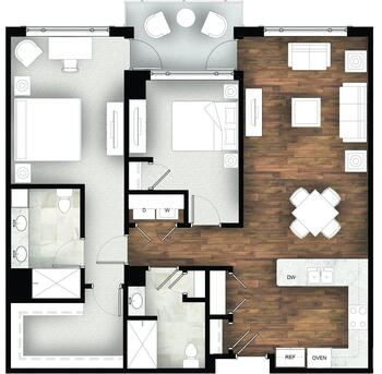 Floorplan of Legacy at Mills River, Assisted Living, Nursing Home, Independent Living, CCRC, Mills River, NC 2