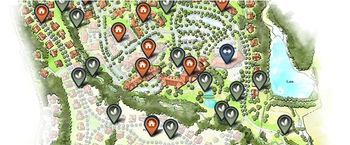 Campus Map of Legacy at Mills River, Assisted Living, Nursing Home, Independent Living, CCRC, Mills River, NC 2
