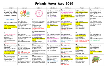 Activity Calendar of Friends Home in Kennett, Assisted Living, Nursing Home, Independent Living, Kennett Square, PA 3
