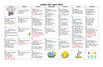 Activity Calendar of Friends Home in Kennett, Assisted Living, Nursing Home, Independent Living, Kennett Square, PA 6