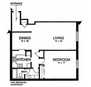 Floorplan of Ridgecrest, Assisted Living, Nursing Home, Independent Living, CCRC, Waco, TX 2