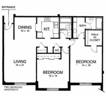 Floorplan of Ridgecrest, Assisted Living, Nursing Home, Independent Living, CCRC, Waco, TX 3