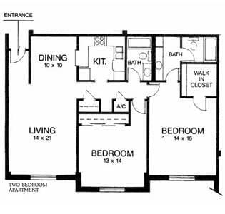 Floorplan of Ridgecrest, Assisted Living, Nursing Home, Independent Living, CCRC, Waco, TX 4