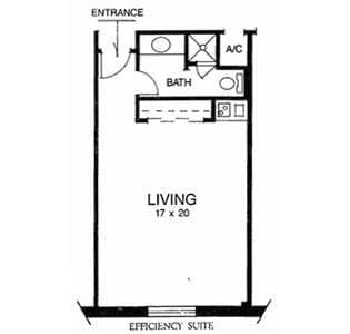 Floorplan of Ridgecrest, Assisted Living, Nursing Home, Independent Living, CCRC, Waco, TX 6