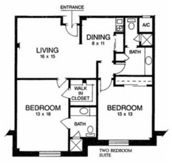 Floorplan of Ridgecrest, Assisted Living, Nursing Home, Independent Living, CCRC, Waco, TX 9