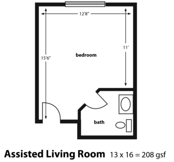 Floorplan of Golden Years, Assisted Living, Nursing Home, Independent Living, CCRC, Walworth, WI 1