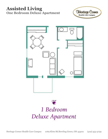Floorplan of Heritage Corner, Assisted Living, Nursing Home, Independent Living, CCRC, Bowling Green, OH 6