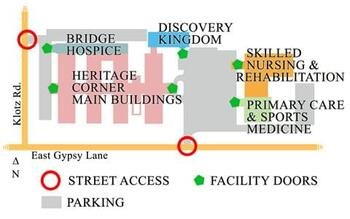 Campus Map of Heritage Corner, Assisted Living, Nursing Home, Independent Living, CCRC, Bowling Green, OH 3