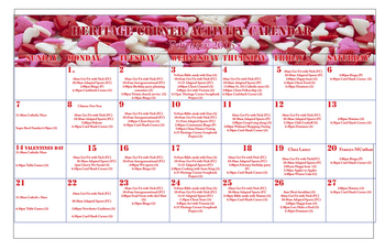 Activity Calendar of Heritage Corner, Assisted Living, Nursing Home, Independent Living, CCRC, Bowling Green, OH 1