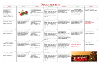 Activity Calendar of Heritage Corner, Assisted Living, Nursing Home, Independent Living, CCRC, Bowling Green, OH 3