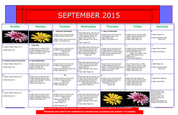 Activity Calendar of Heritage Corner, Assisted Living, Nursing Home, Independent Living, CCRC, Bowling Green, OH 14