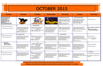 Activity Calendar of Heritage Corner, Assisted Living, Nursing Home, Independent Living, CCRC, Bowling Green, OH 15