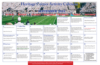Activity Calendar of Heritage Corner, Assisted Living, Nursing Home, Independent Living, CCRC, Bowling Green, OH 16