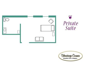 Floorplan of Heritage Corner, Assisted Living, Nursing Home, Independent Living, CCRC, Bowling Green, OH 8