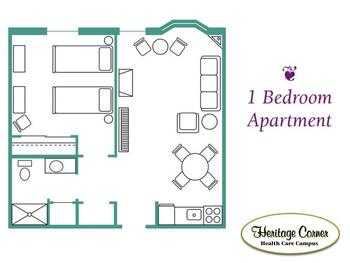 Floorplan of Heritage Corner, Assisted Living, Nursing Home, Independent Living, CCRC, Bowling Green, OH 10