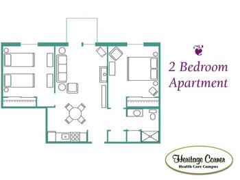 Floorplan of Heritage Corner, Assisted Living, Nursing Home, Independent Living, CCRC, Bowling Green, OH 11