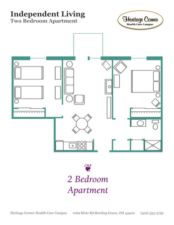Floorplan of Heritage Corner, Assisted Living, Nursing Home, Independent Living, CCRC, Bowling Green, OH 14