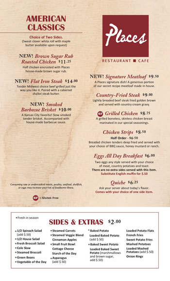 Dining menu of John Knox Village, Assisted Living, Nursing Home, Independent Living, CCRC, Lees Summit, MO 14