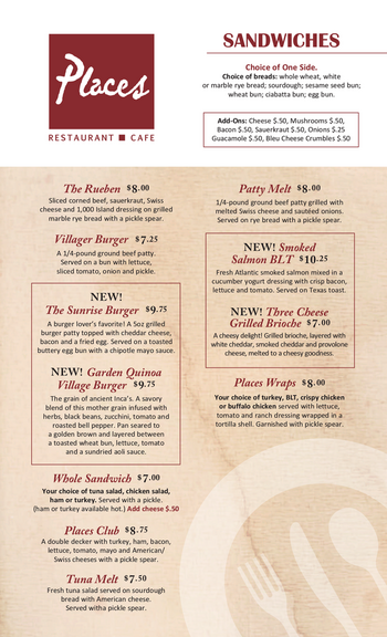 Dining menu of John Knox Village, Assisted Living, Nursing Home, Independent Living, CCRC, Lees Summit, MO 15