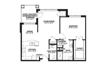Floorplan of John Knox Village, Assisted Living, Nursing Home, Independent Living, CCRC, Lees Summit, MO 1