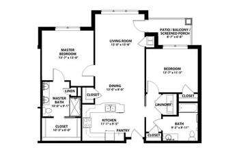 Floorplan of John Knox Village, Assisted Living, Nursing Home, Independent Living, CCRC, Lees Summit, MO 2