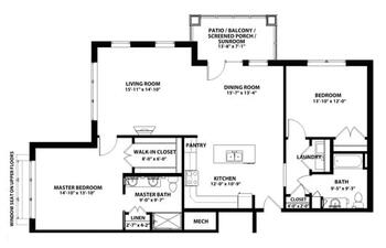 Floorplan of John Knox Village, Assisted Living, Nursing Home, Independent Living, CCRC, Lees Summit, MO 3
