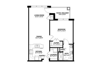 Floorplan of John Knox Village, Assisted Living, Nursing Home, Independent Living, CCRC, Lees Summit, MO 4