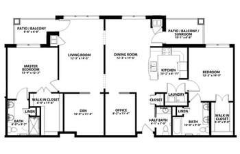Floorplan of John Knox Village, Assisted Living, Nursing Home, Independent Living, CCRC, Lees Summit, MO 5