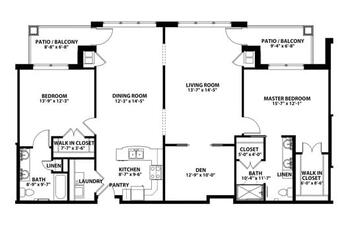 Floorplan of John Knox Village, Assisted Living, Nursing Home, Independent Living, CCRC, Lees Summit, MO 6