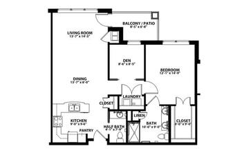 Floorplan of John Knox Village, Assisted Living, Nursing Home, Independent Living, CCRC, Lees Summit, MO 7
