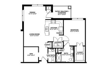 Floorplan of John Knox Village, Assisted Living, Nursing Home, Independent Living, CCRC, Lees Summit, MO 8