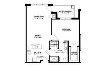 Floorplan of John Knox Village, Assisted Living, Nursing Home, Independent Living, CCRC, Lees Summit, MO 9