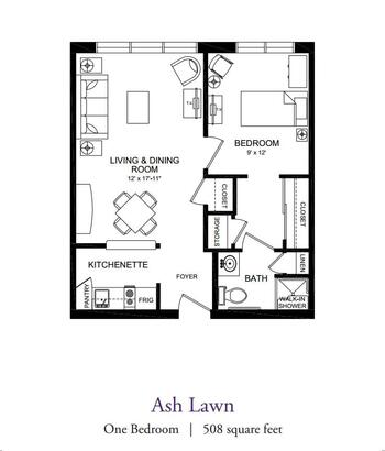 Floorplan of Our Lady Of Peace, Assisted Living, Nursing Home, Independent Living, CCRC, Charlottesville, VA 2