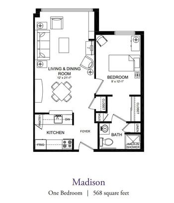 Floorplan of Our Lady Of Peace, Assisted Living, Nursing Home, Independent Living, CCRC, Charlottesville, VA 3