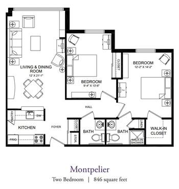 Floorplan of Our Lady Of Peace, Assisted Living, Nursing Home, Independent Living, CCRC, Charlottesville, VA 6