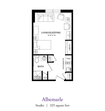 Floorplan of Our Lady Of Peace, Assisted Living, Nursing Home, Independent Living, CCRC, Charlottesville, VA 12